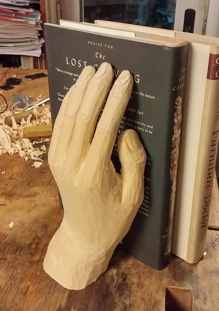 Carving an Open Hand Book End - Introduction