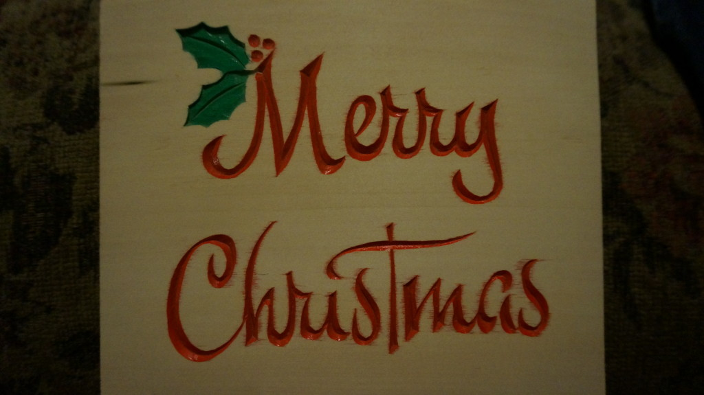 Carving a Christmas Greeting - Introduction