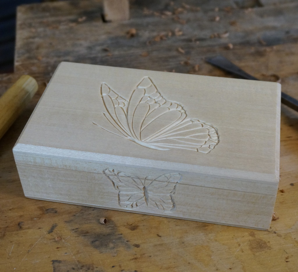 Carving Butterflies on a Keepsake Box - Introduction